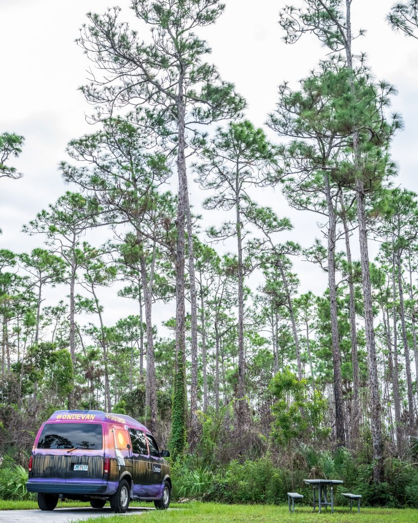 campervan everglades road trip floride