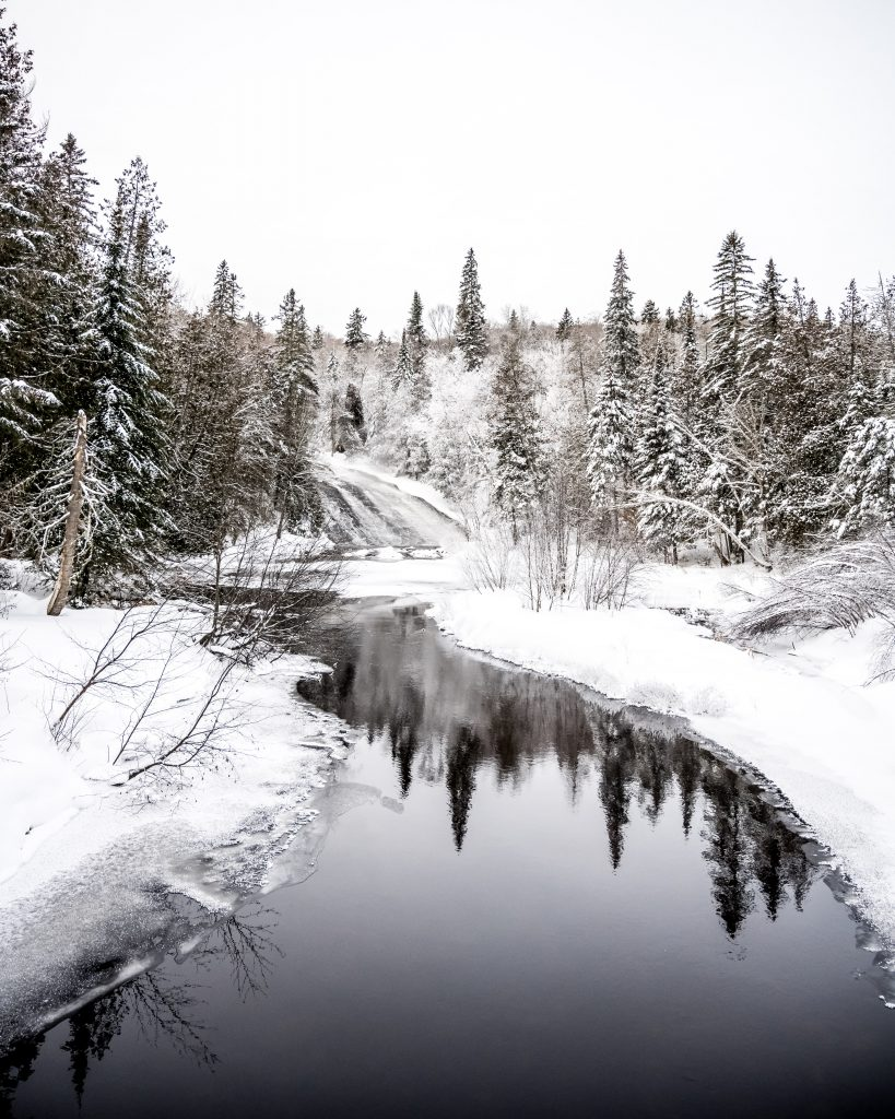 chute windigo randonnée hiver québec