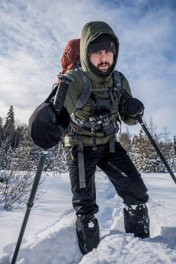 homme randonnée hiver québec