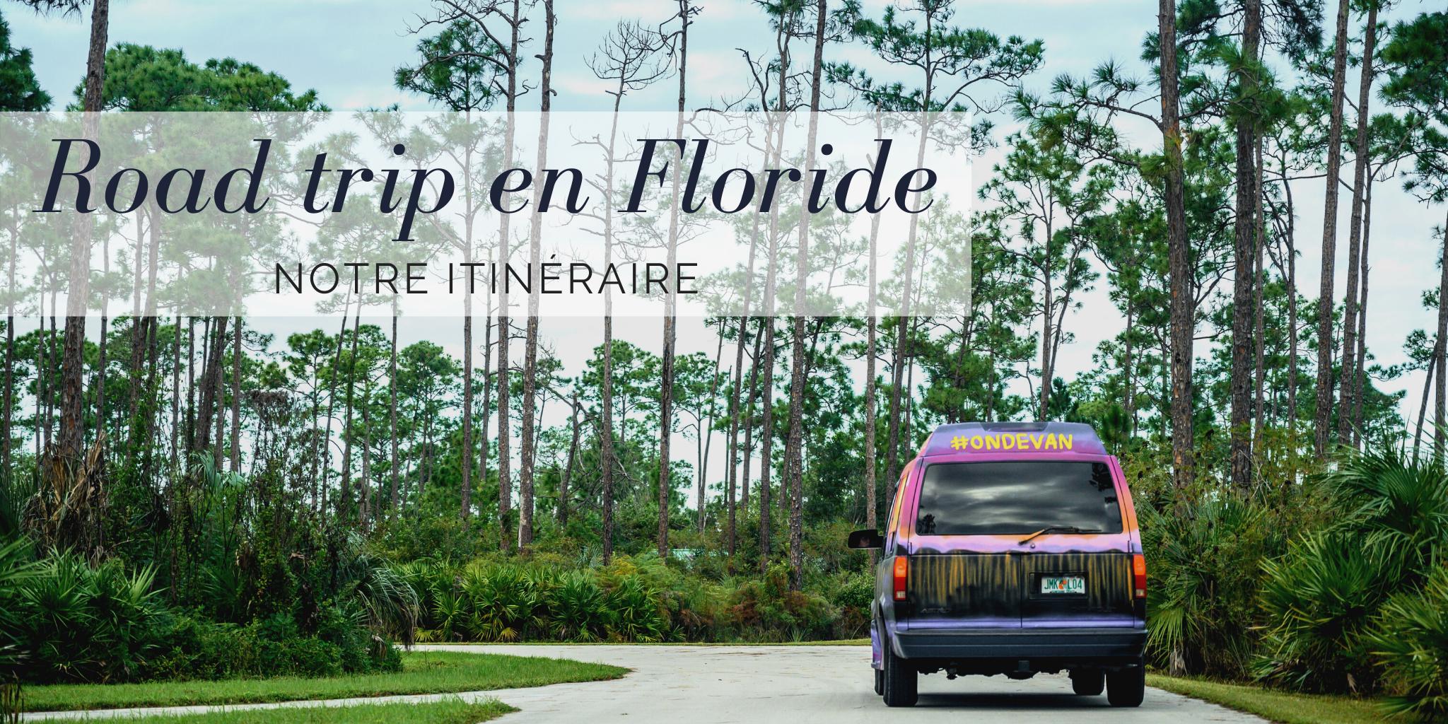 road trip van Floride