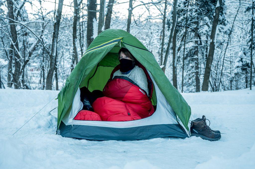 reveil camping hiver