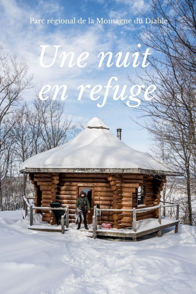 parc de la montagne du diable hiver refuge