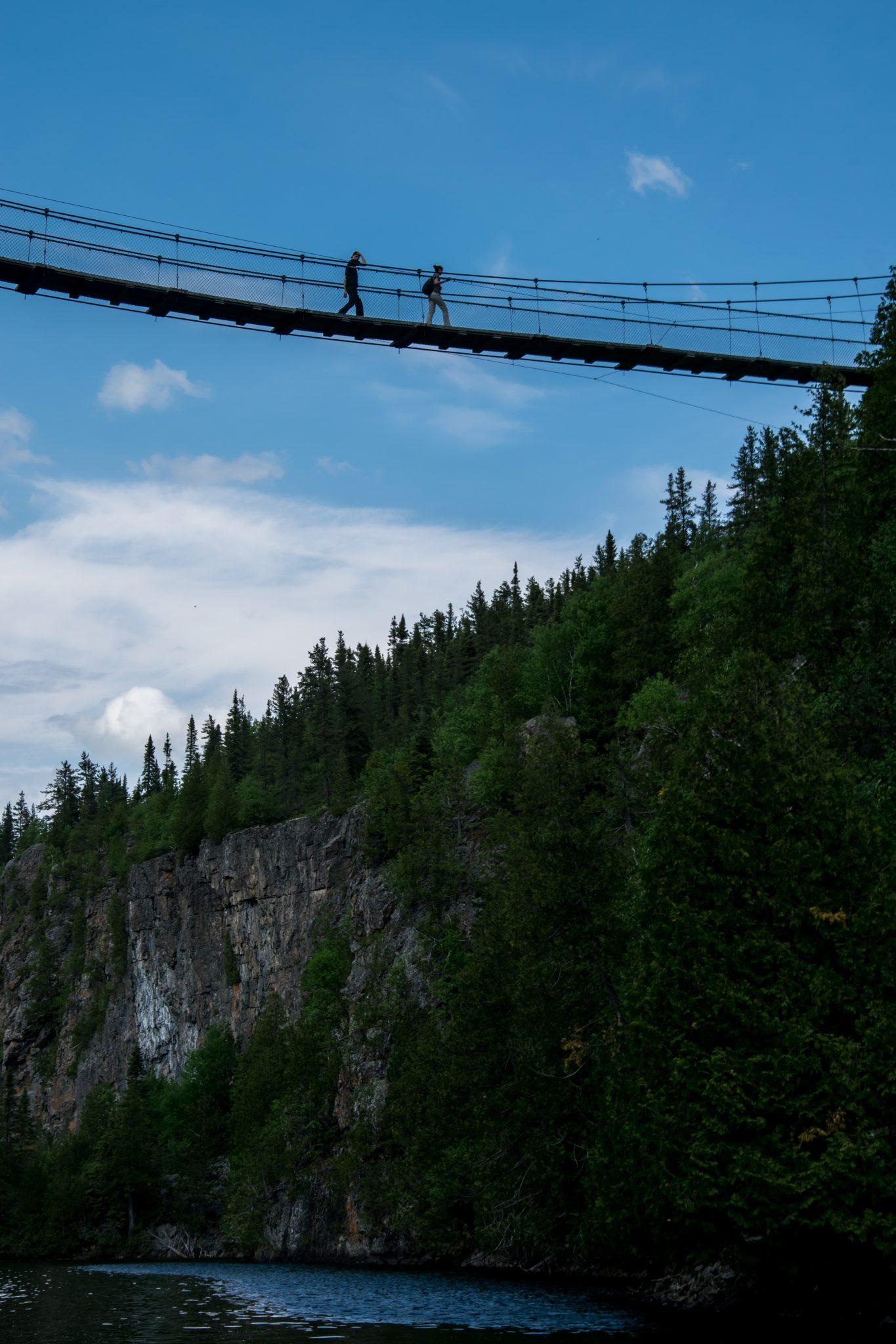 pont suspendu abitibi