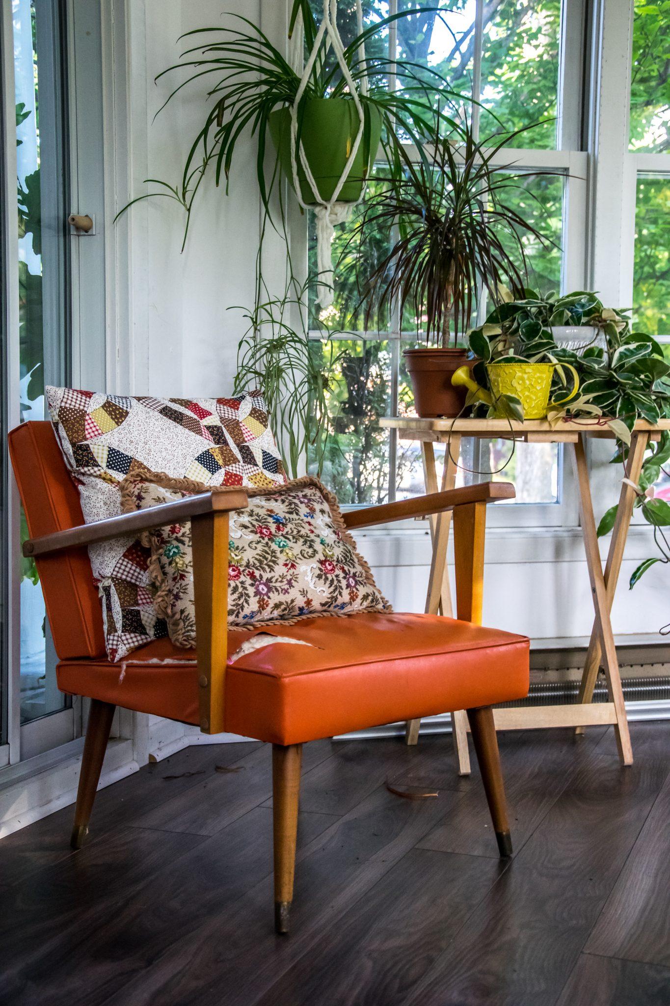 fauteuil orange