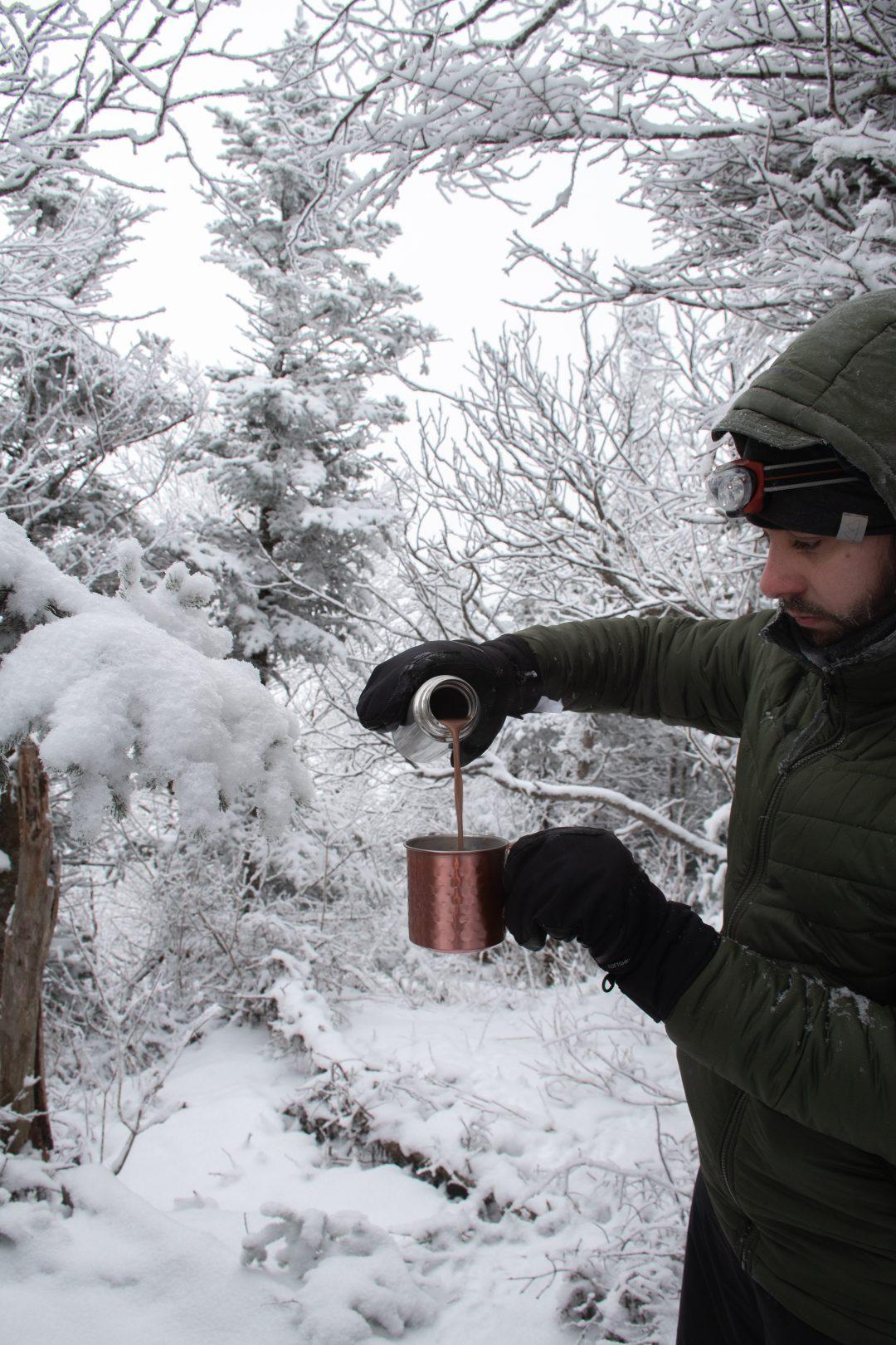 café foret neige