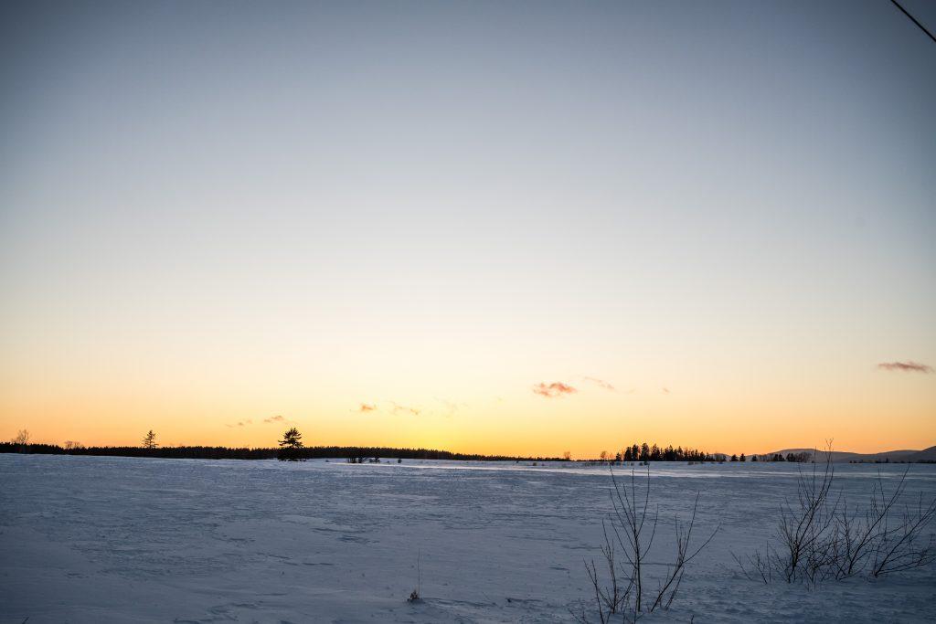 coucher de soleil isle aux grues
