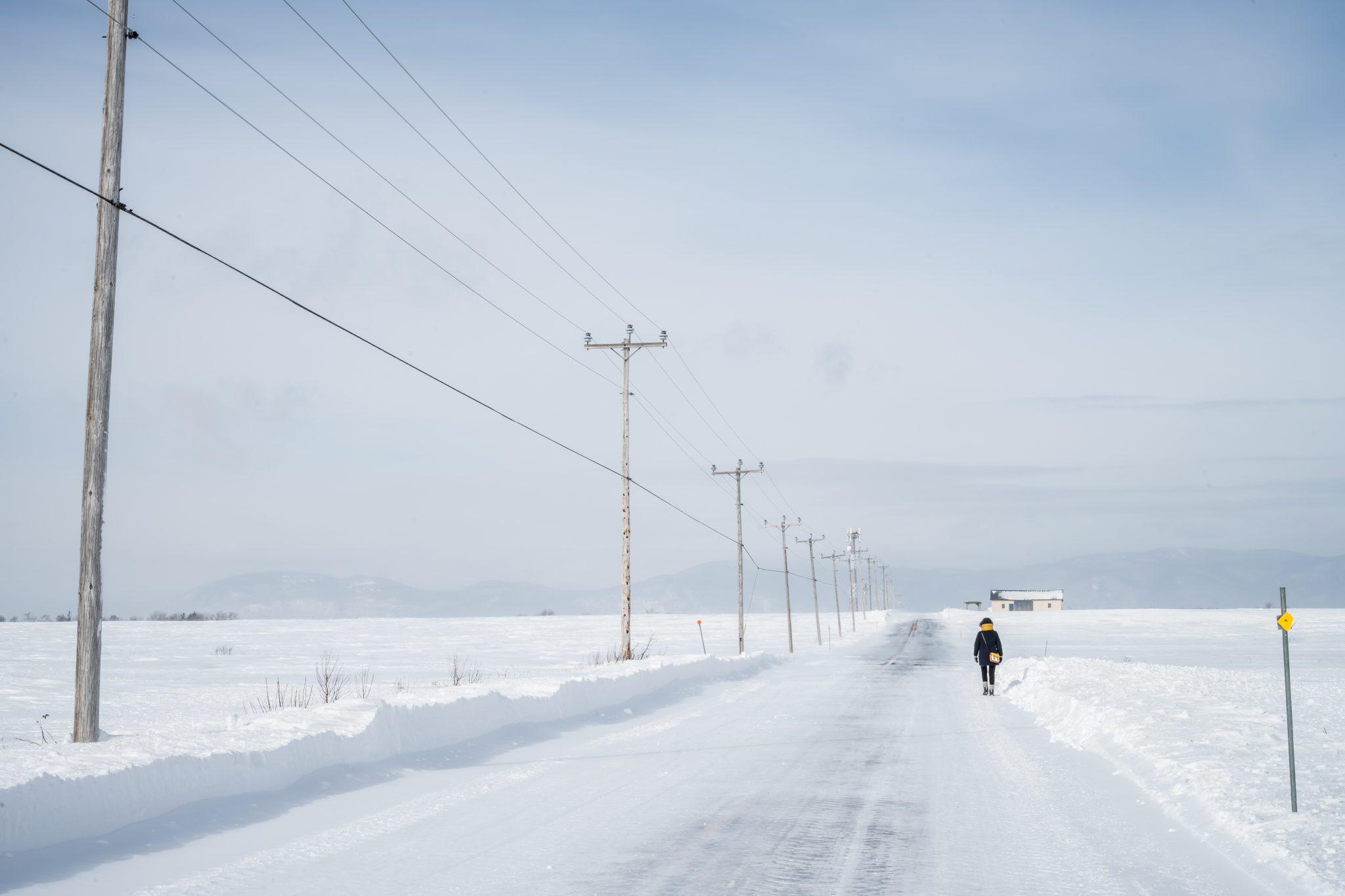 rue déserte neige