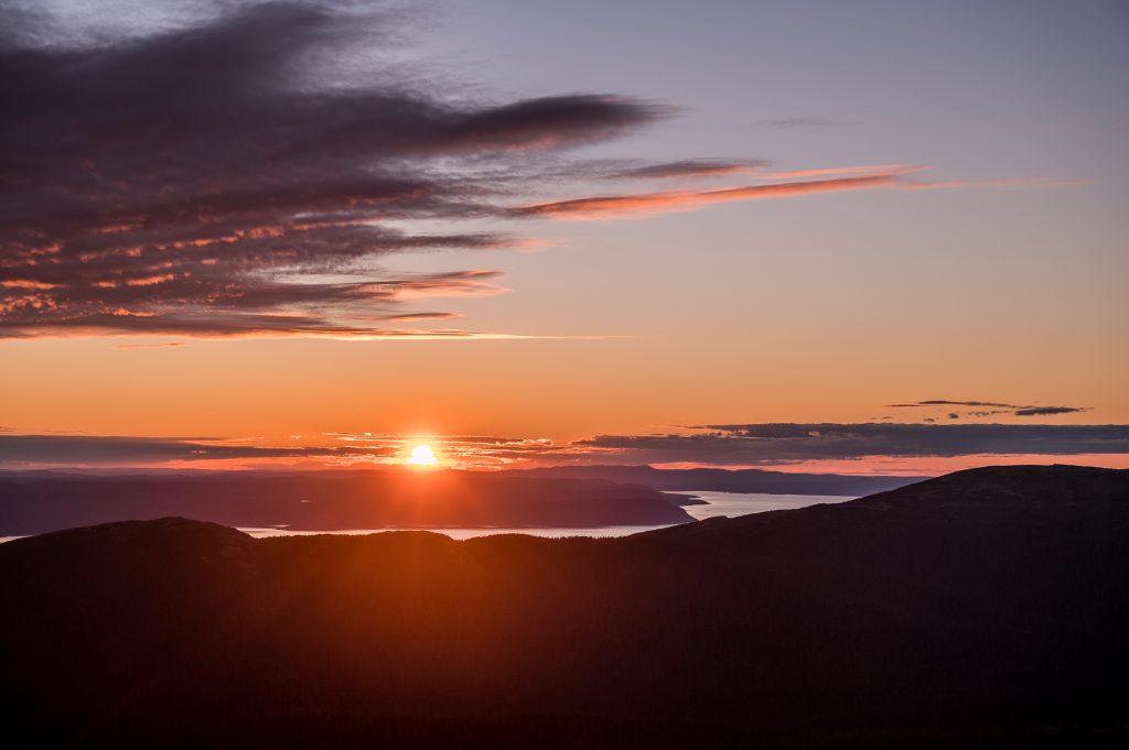 coucher de soleil massif Provencher
